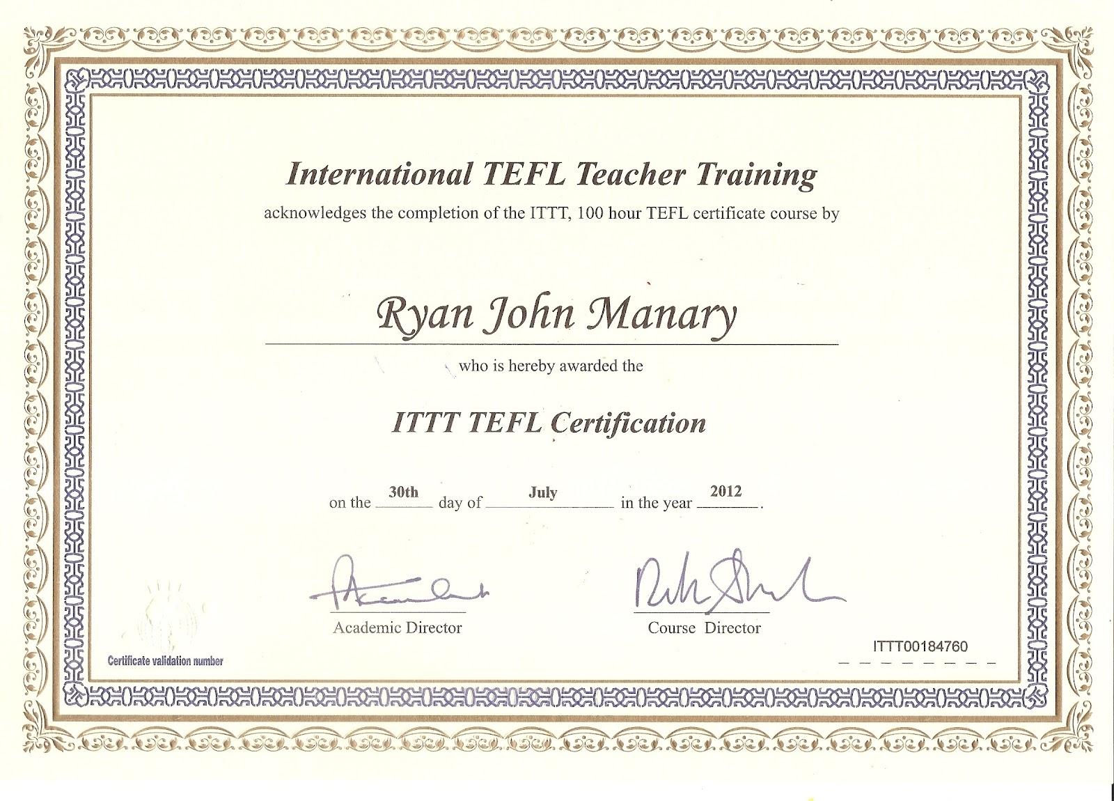 tefl certificate template teaching south esl sample fake korea nice today marks carlynstudio