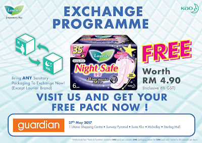 Kao Laurier FREE Night Safe 35cm Pack Programme Guardian Malaysia