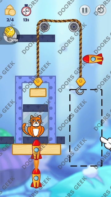 Hello Cats Level 141 Solution, Cheats, Walkthrough 3 Stars for Android and iOS