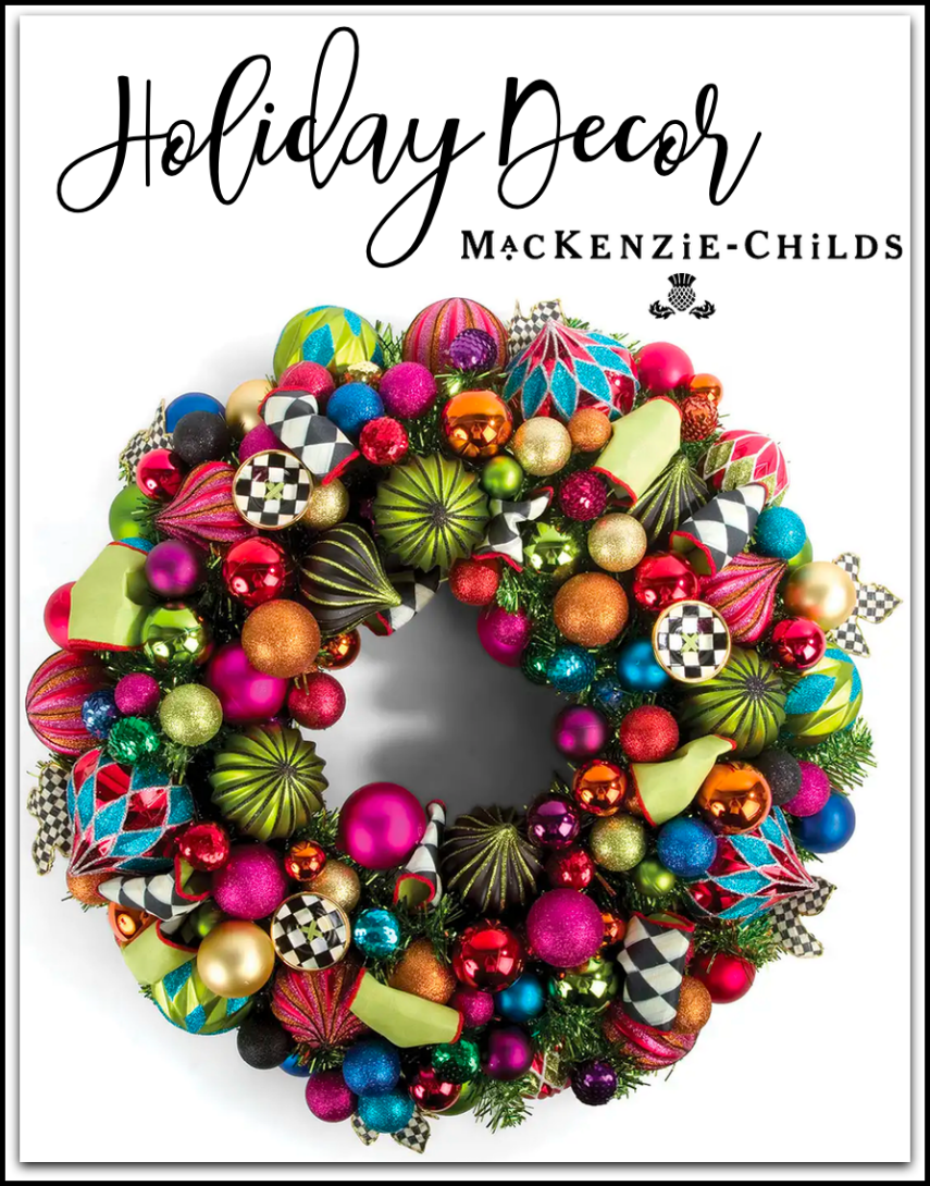 MACKENZIE-CHILDS NUTCRACKER SMALL CHRISTMAS WREATH