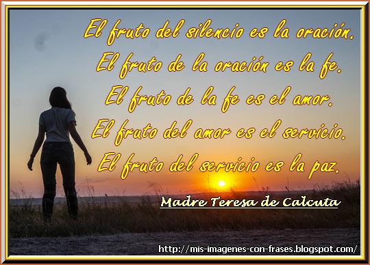 Madre Teresa De Calcuta Amor Fe Oracion Mis Imagenes Con Frases