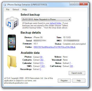 Extractor: Iphone Backup Extractor Keygen