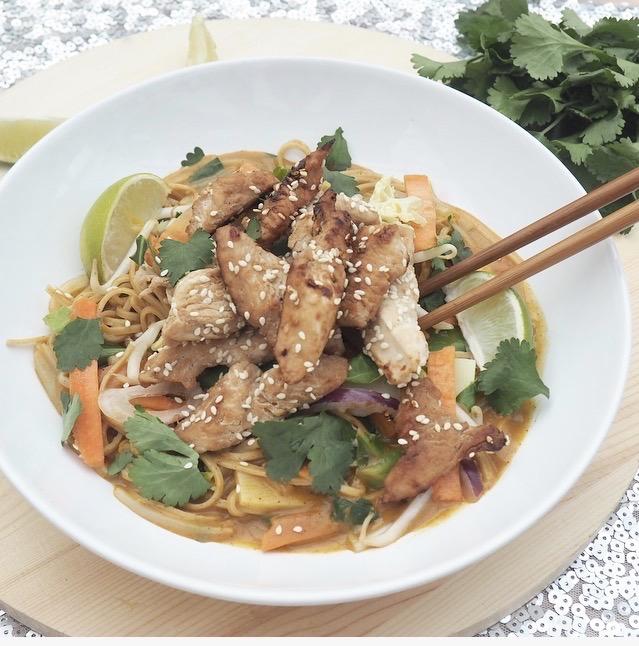 Thai Turkey Noodle Bowl