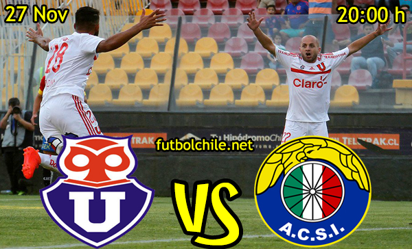 Ver stream hd youtube facebook movil android ios iphone table ipad windows mac linux resultado en vivo, online: Universidad de Chile vs Audax Italiano,