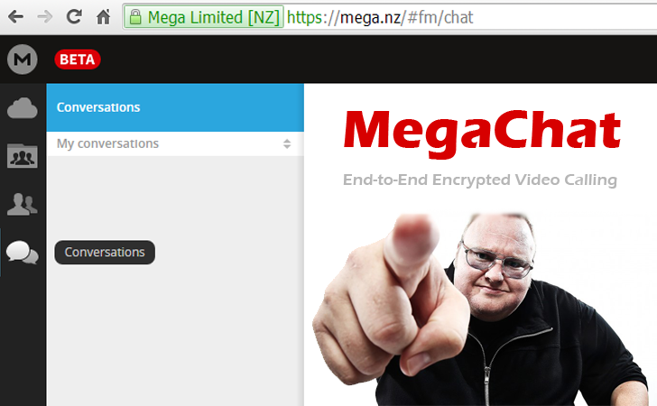 MegaChat — Kim Dotcom launches end-to-end encrypted Video Calling Service
