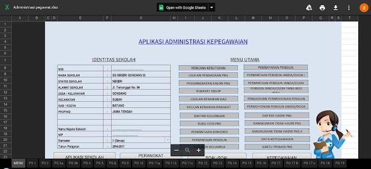 Aplikasi Administrasi Kepegawaian Excel Bagi PNS Gratis