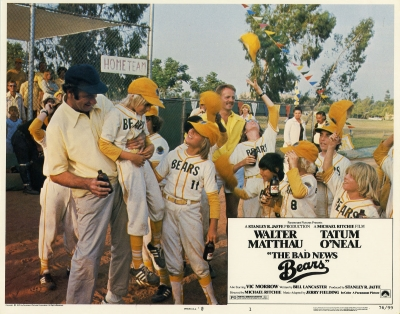 The heroes lose the big game at the end of THE BAD NEWS BEARS (1976) but are still the happiest kids on the field.