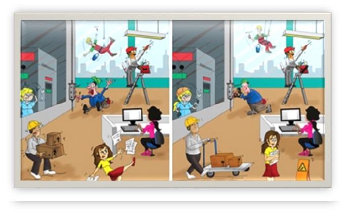De la mano con la seguridad actos y condiciones inseguras for Riesgos laborales en oficinas administrativas