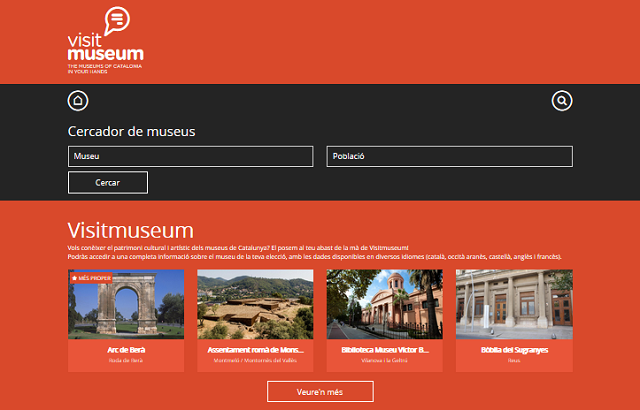 Vista de la pàgina web de visitmuseum