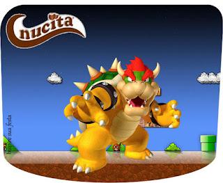 Etiqueta Nucita de Fiesta de Super Mario Bros para Imprimir Gratis.