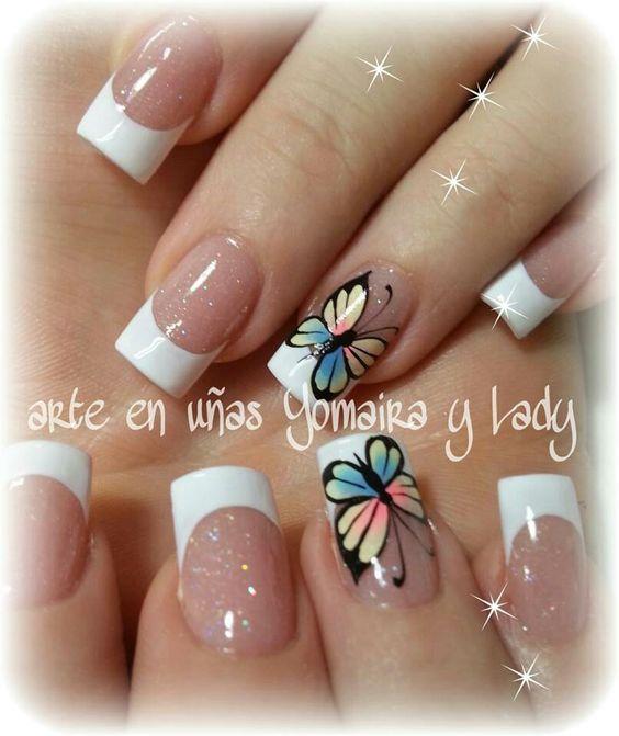 10 Diseños Hermosos De Mariposas Para Uñas Belleza Y Peinados