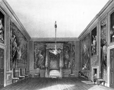 Old Bedchamber, St James's Palace  from The History of he Royal Residences by WH Pyne (1819)