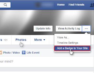 Cara memasang badge profile facebook di blogger