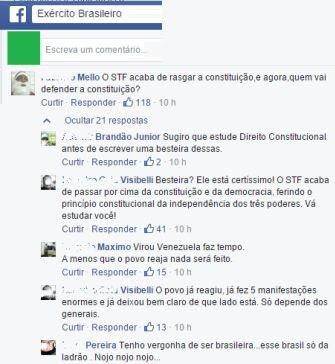 General MOURÃO, pedidos de intervenção exercito