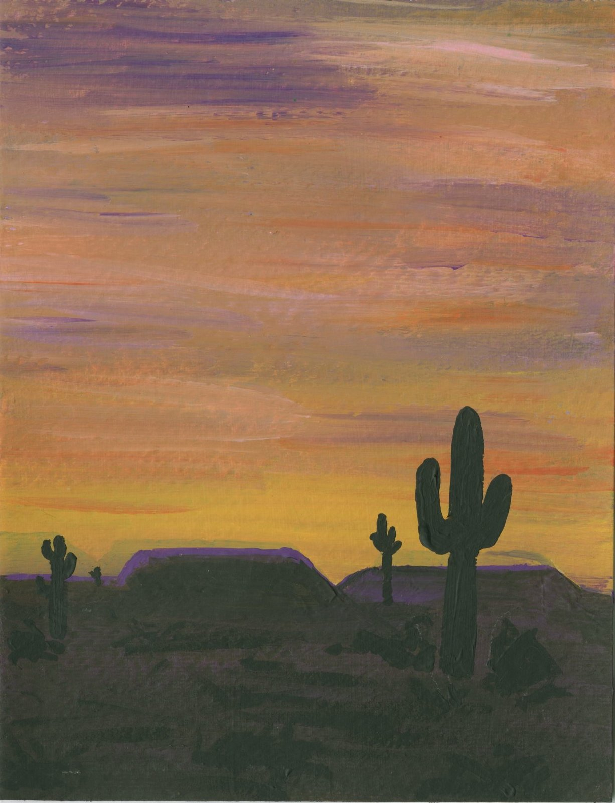 Cindy DeRosier My Creative Life Sunset Desert Painting