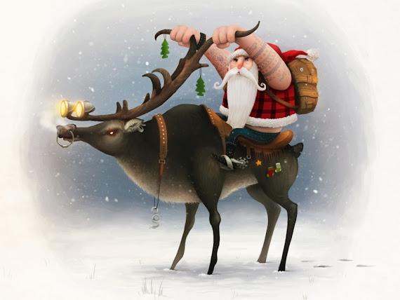 download besplatne pozadine za desktop 1152x864 slike ecard čestitke blagdani Božić Djed Mraz jelen