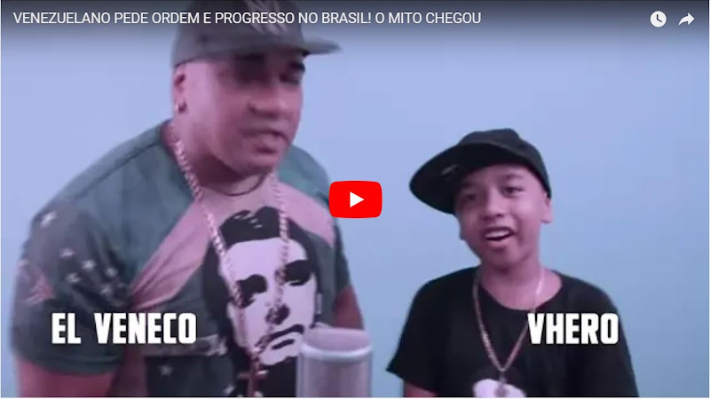 Cantante venezolano hizo video musical de campaña en Brasil para Bolsonaro