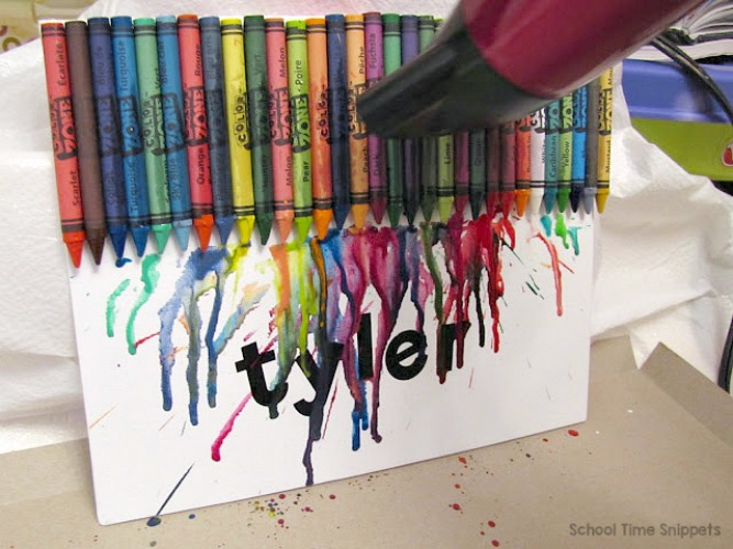 crayon drip name art