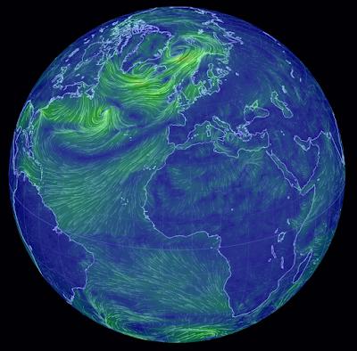 Planeta Tierra corriente de aire