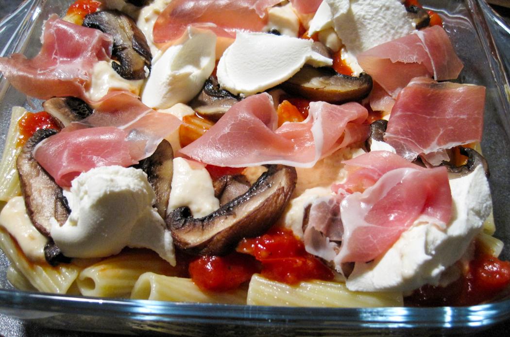Ham Mushroom and Mascarpone