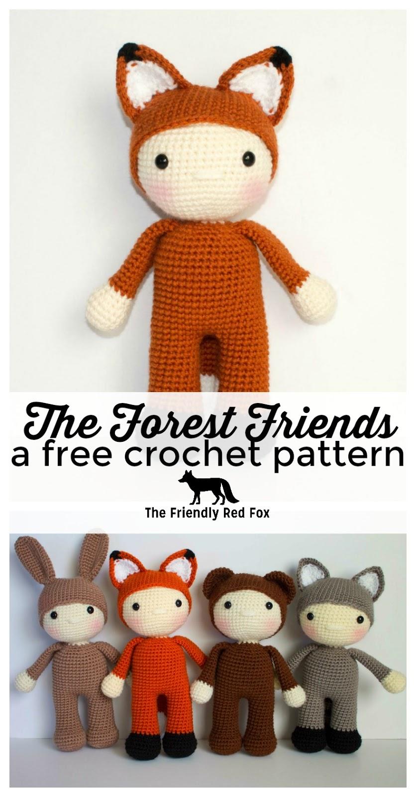 Friendly Freddy A Free Crochet Pattern Thefriendlyredfox