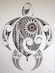 turtle nice drawing zentangle drawings sea cool draw simple turtles tattoo animal designs pretty tattoos hawaii hawaiian plumage very maori