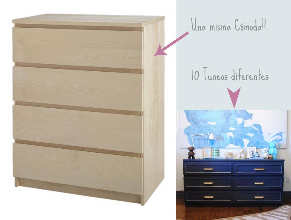 Una pizca de hogar antes y despu s de una c moda malm for Personalizar muebles de ikea