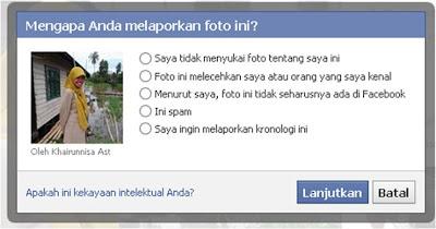 Cara Melaporkan Foto Facebook