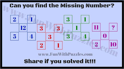 Missing Number Tricky Maths Puzzle