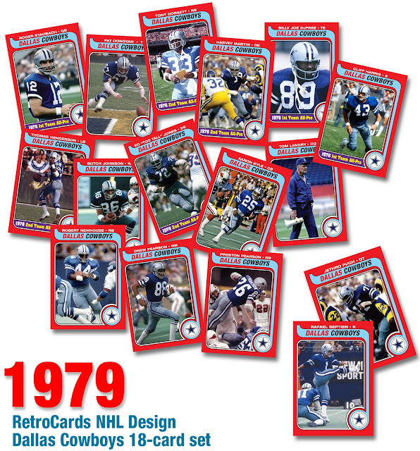 "Tony Dorsett, Roger Staubach, Robert Newhouse, Pat Donovan, Preston Pearson, Butch Johnson, Billy Joe Dupree, Drew Pearson, Danny White, Jethro Pugh, Bob Breunig, Ed ""Too Tall"" Jones, Aaron Kyle, Harvey Martin, Cliff Harris, Thomas Henderson, Rafael Septien, Tom Landry"