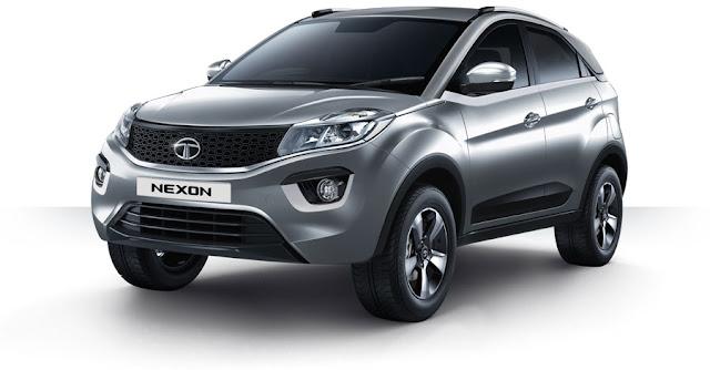 Tata Nexon Compact SUV Pilatinium pics