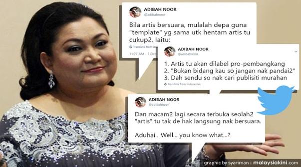 Selepas Fathia Dan Sheila Majid Teruk Dikecam Netizen. Kini Giliran Adibah Noor Pula 'Buka Mulut'