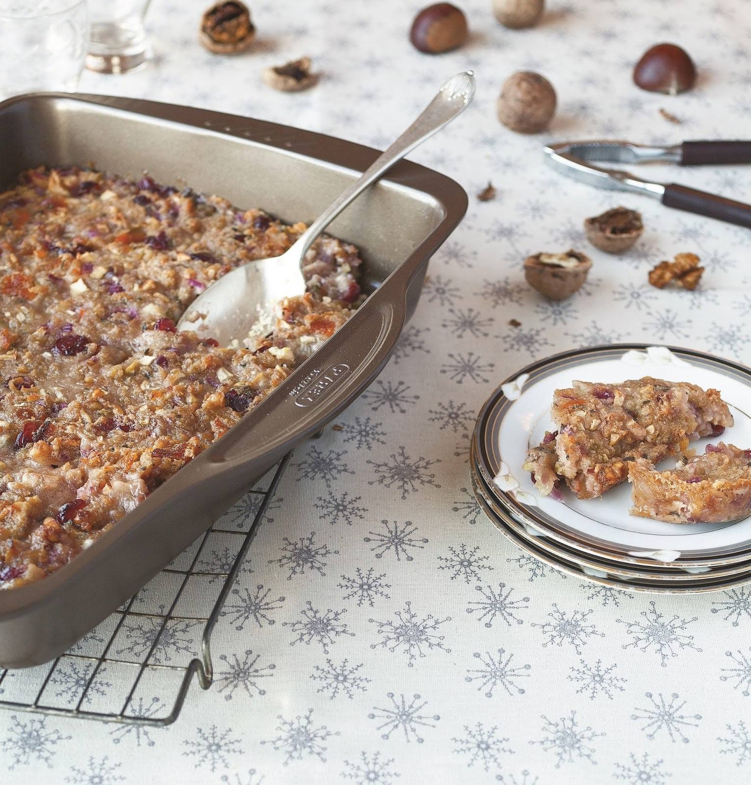 Fruit And Nut Stuffing Bake