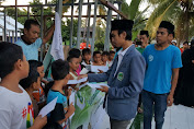 IPNU NTB Bersama EF Kayangan Gelar Santunan DI Lokasi Terdampak Gempa