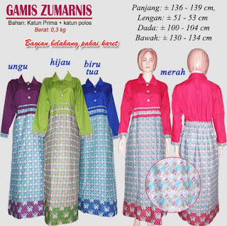 Gamis batik muslimah murah tapi berkualitas khas pekalongan