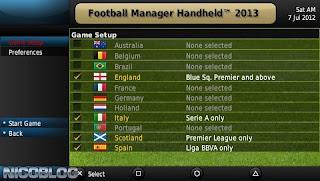 Football Manager Handheld 2013 iso PPSSPP - isoroms com