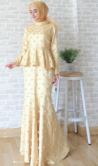 55 Model Gaun Pesta Muslimah Modern Elegan Terbaru 2019 Model Baju