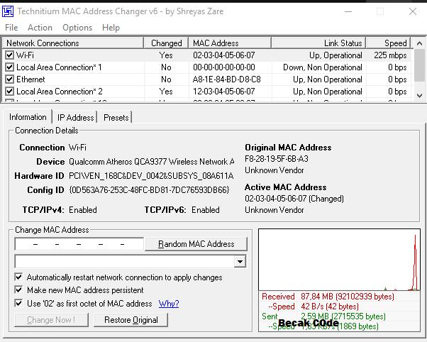 Kumpulan Mac Address Wifi ID Terbaru Maret – Agustus Work 2019 Becakcode