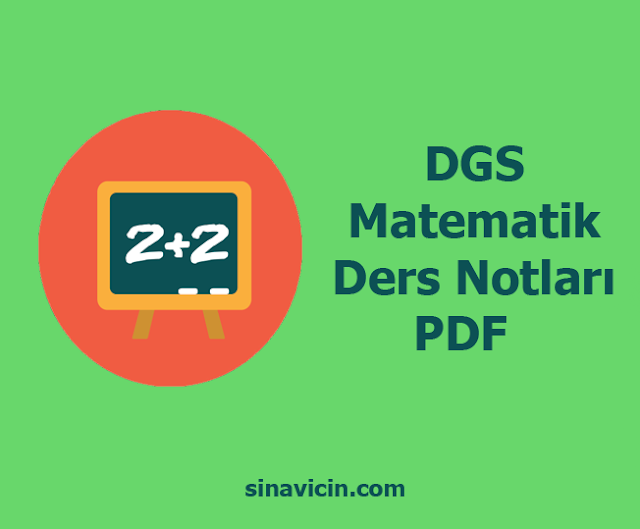 DGS Matematik Ders Notları PDF