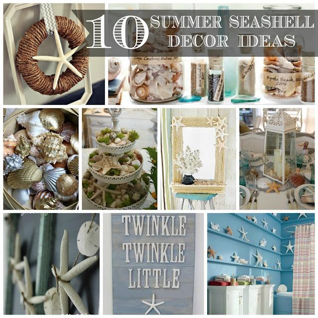 10 Summer Seashell Decor Ideas #decor #decorating #seashells #beach #summer #sea