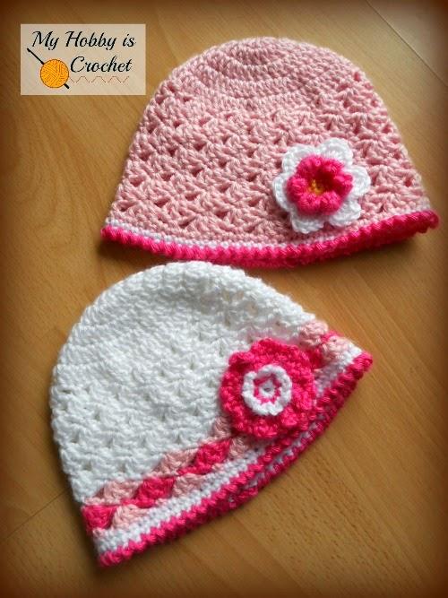 Crochet Hat Lacy Shell Stitch - Free Charted Pattern