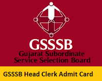 GSSSB Head Clerk Admit Card