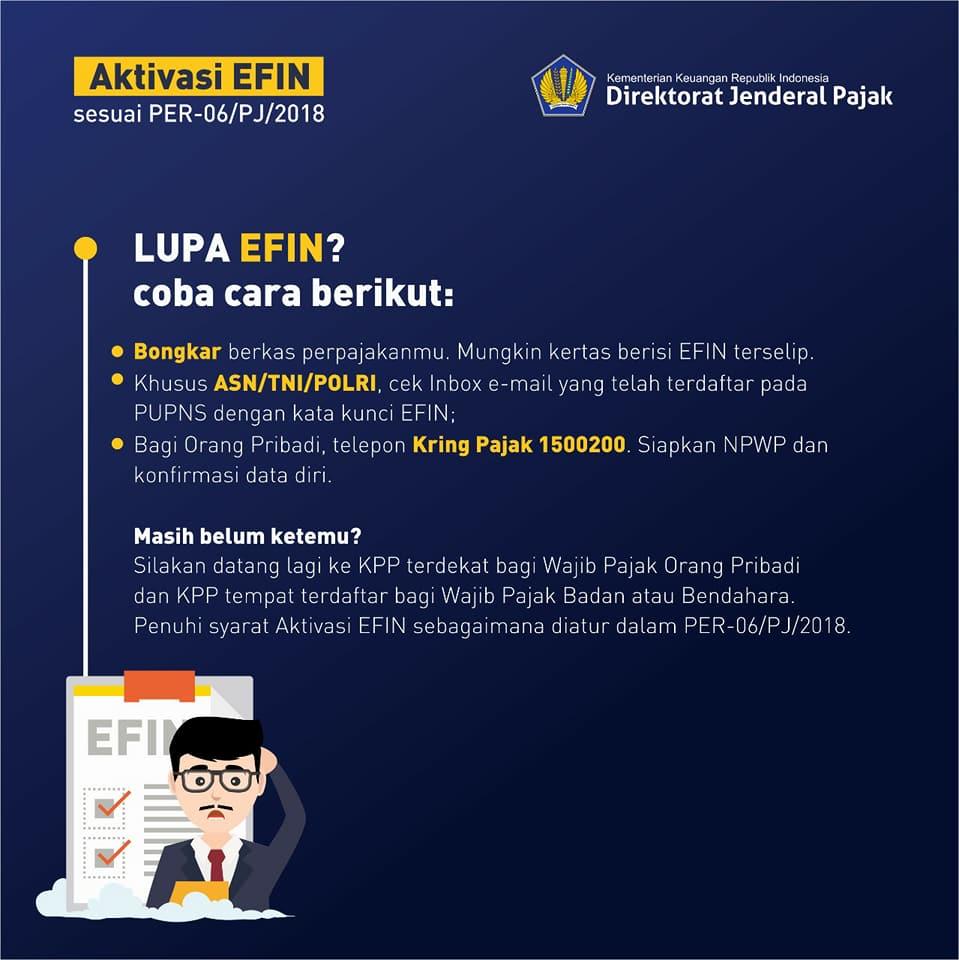 Info EFIN Pajak Lupa atau Hilang