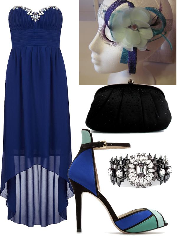 87cab3277 Tengo una Boda.¿Qué me pongo  Vestido Azul Eléctrico + Esmeralda ...