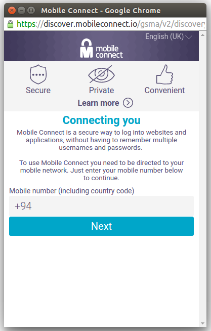 Authenticate users through Mobile Connect - Getting Started Guide