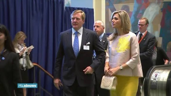 King Willem Alexander and Queen Maxima attended the 70th session of the UN General Assembly at the UN headquarters