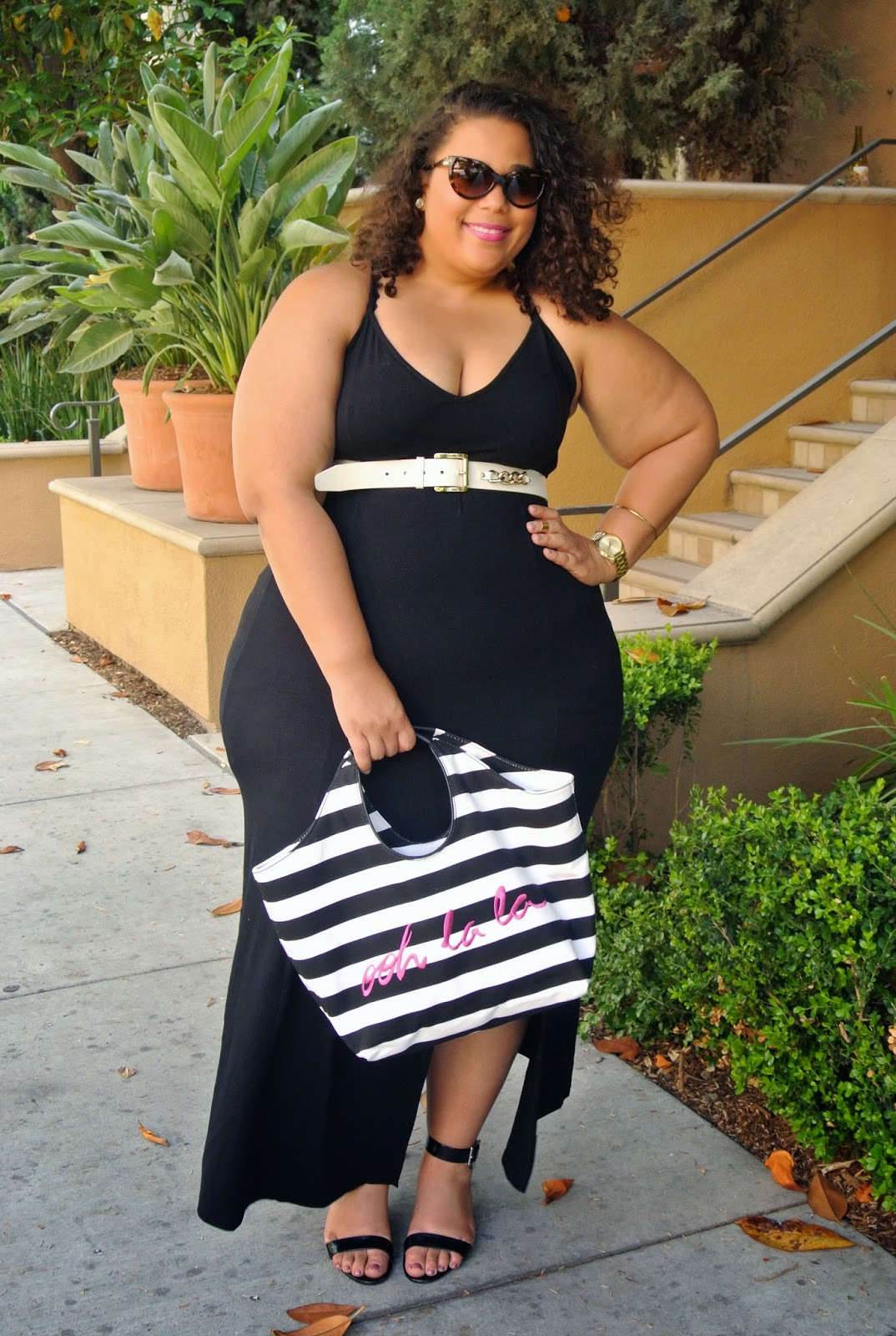 Plus Size Maxi Dress, Asos Curve, Kate Spade ooh la la