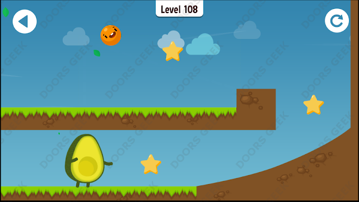 Where's My Avocado? Level 108 Solution, Cheats, Walkthrough, 3 Stars for Android, iPhone, iPad and iPod
