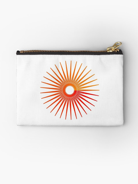 Orange Star Burst Studio Pouch