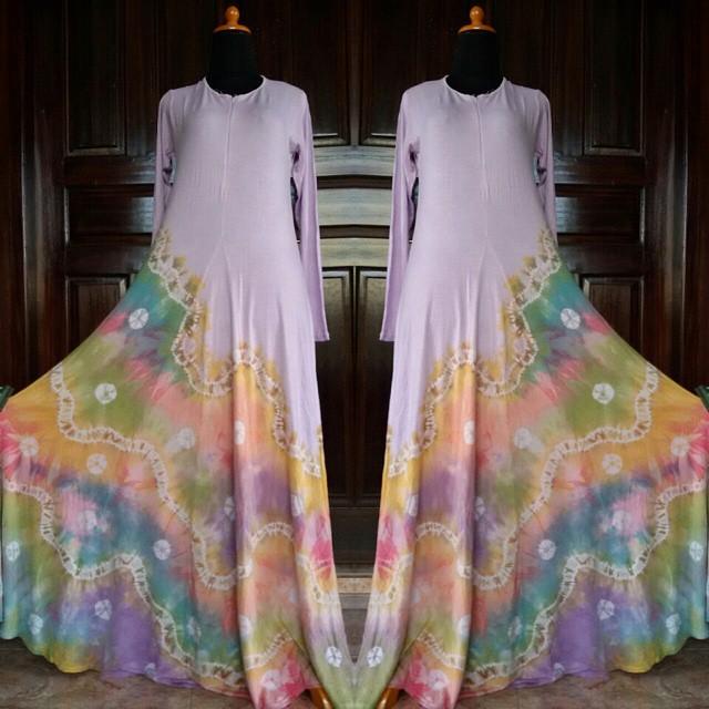 Desain Baju Gamis Spandex Sasirangan Murah